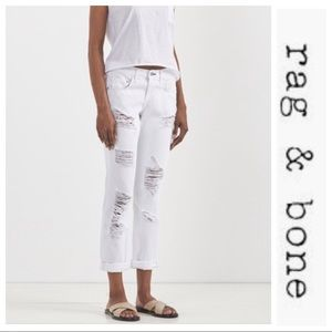 rag & bone Jeans - rag & bone Distressed Boyfriend Jeans